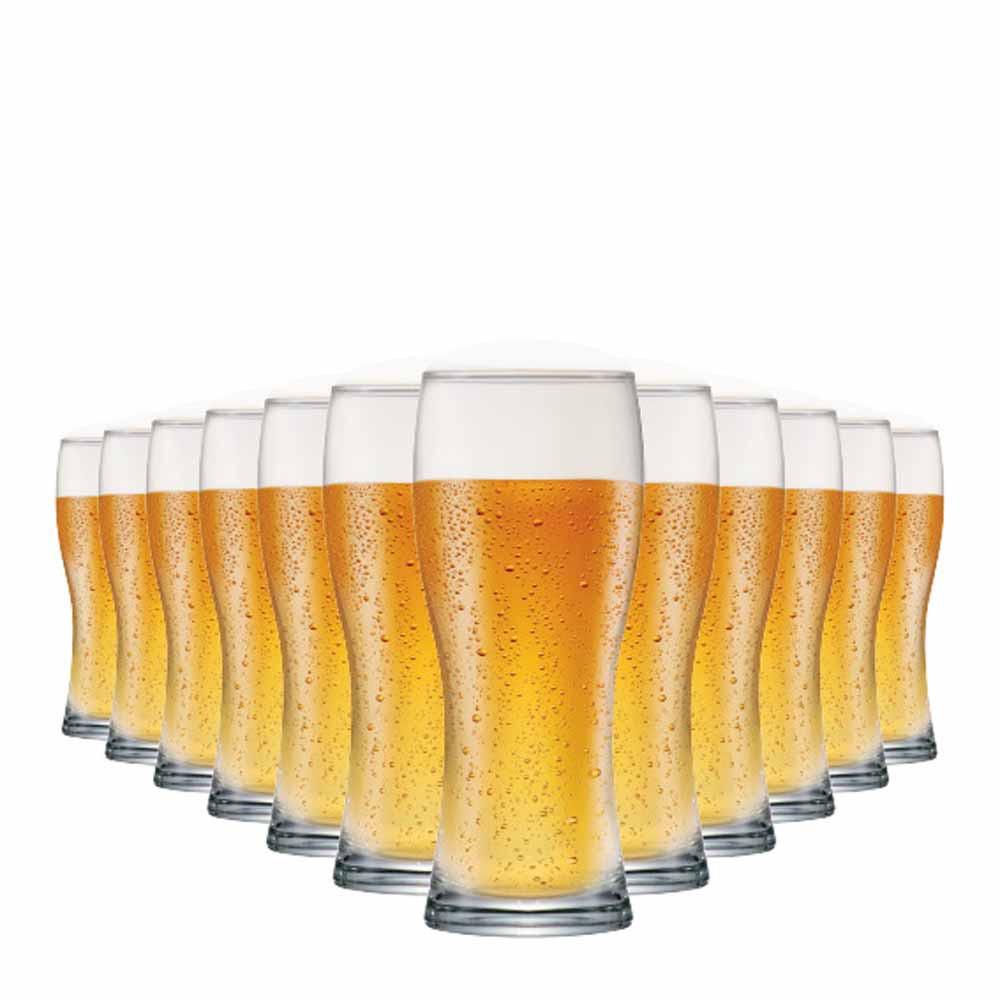 Copo de Cerveja de Vidro Bavaria 300ml 12 Pcs