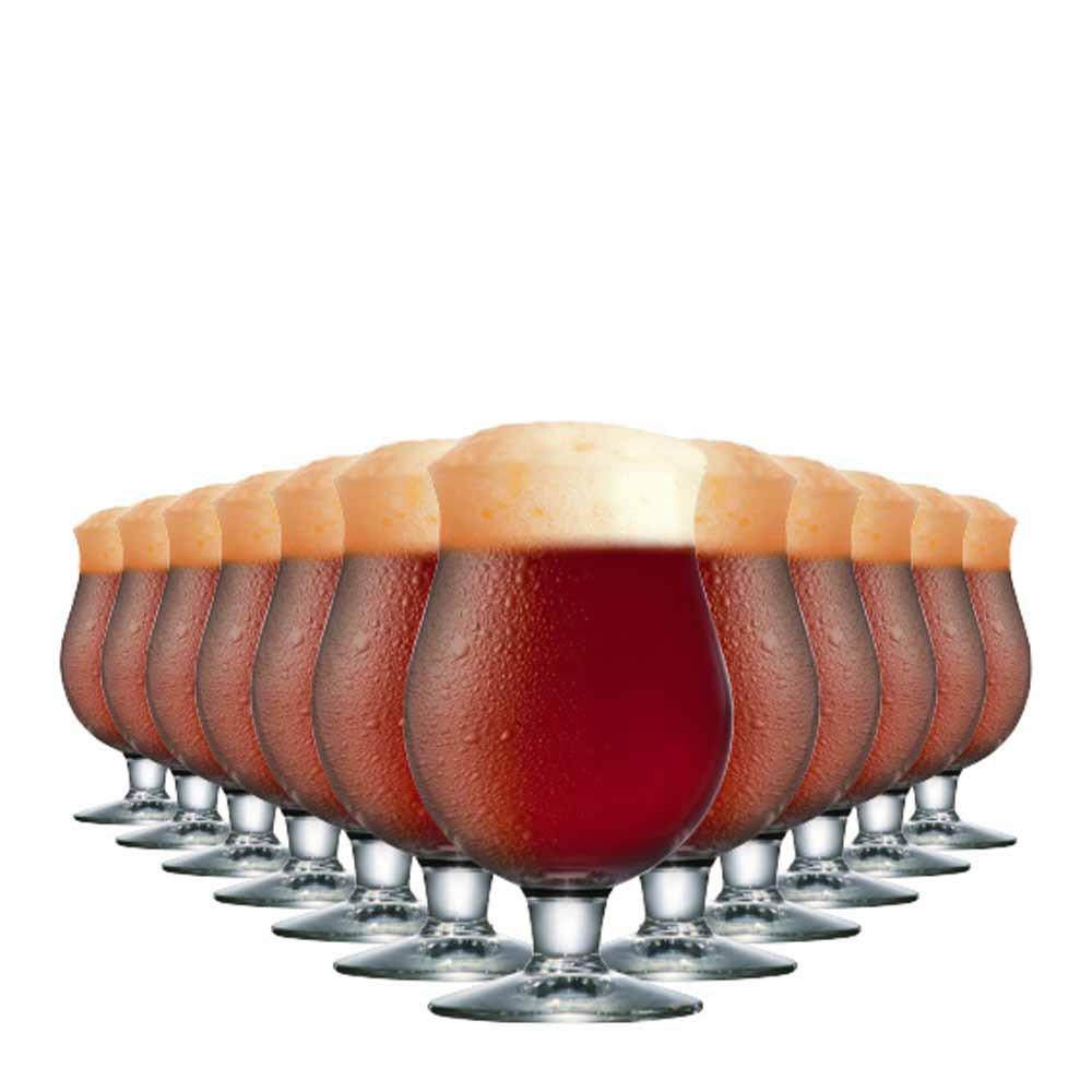 Jogo Copos Cerveja Belgian Vidro 630ml 12 Pcs