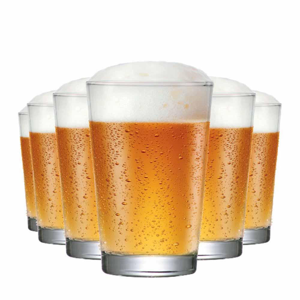 Copo de Cerveja de Vidro Caldereta Classico 325ml 6 Pcs