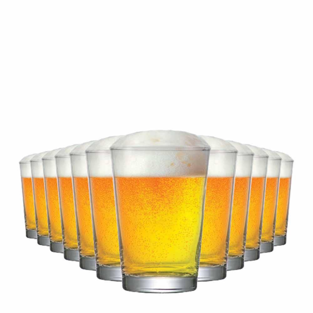 Copo de Cerveja de Vidro Caldereta P 300ml 12 Pcs