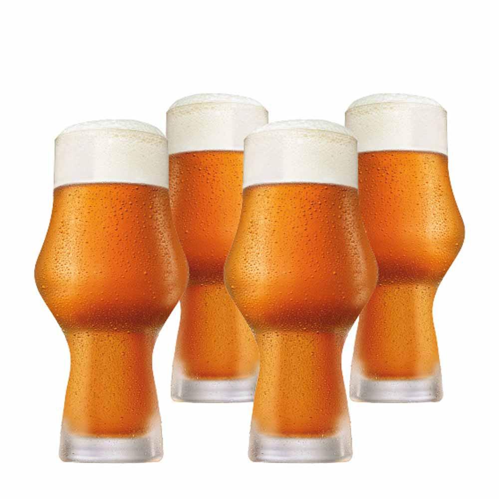 Jogo Copos Cerveja Craft Beer Cristal 495ml 4 Pcs