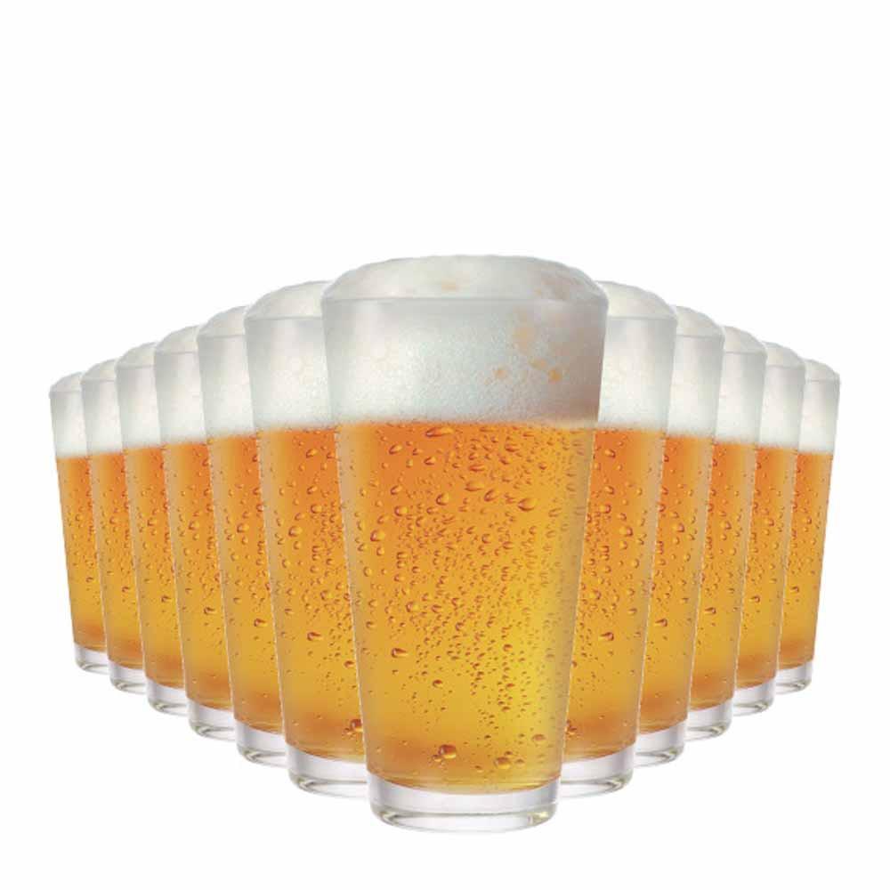Copo de Cerveja de Vidro Dallas 360ml 12 Pcs