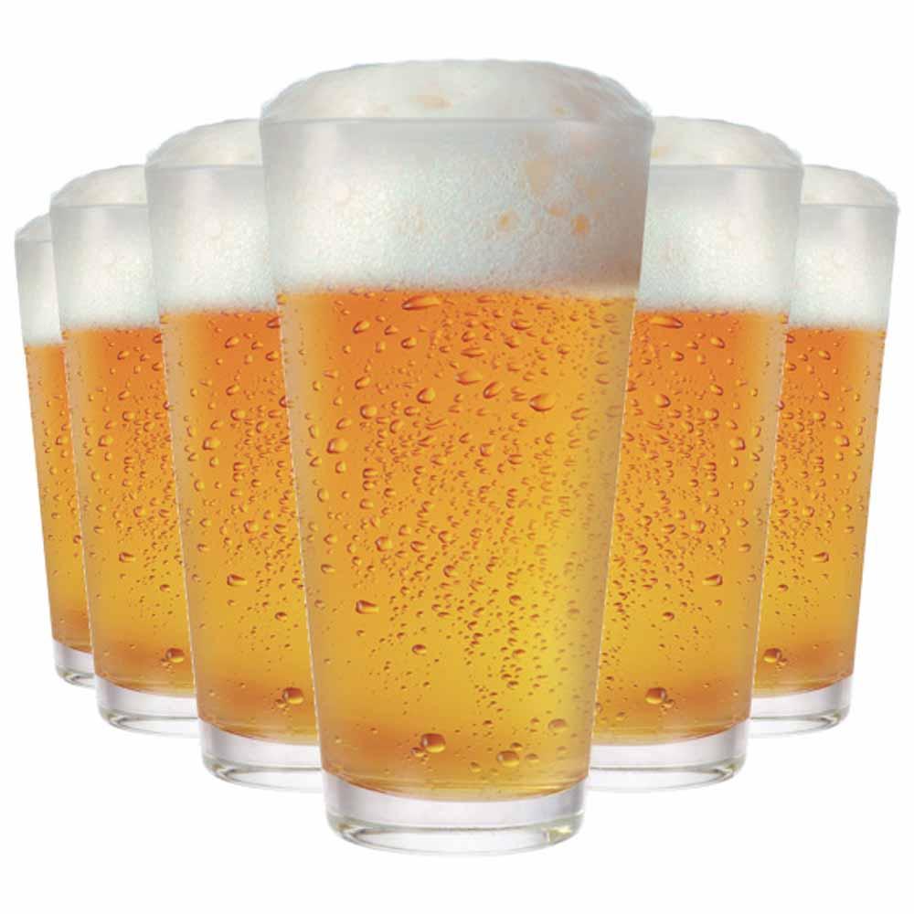 Copo de Cerveja de Vidro Dallas 360ml 6 Pcs