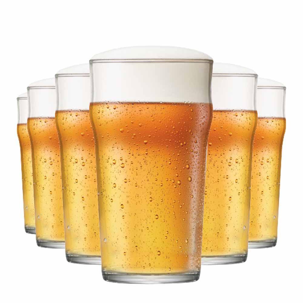 Copo de Cerveja de Vidro Nonic G 590ml 6 Pcs