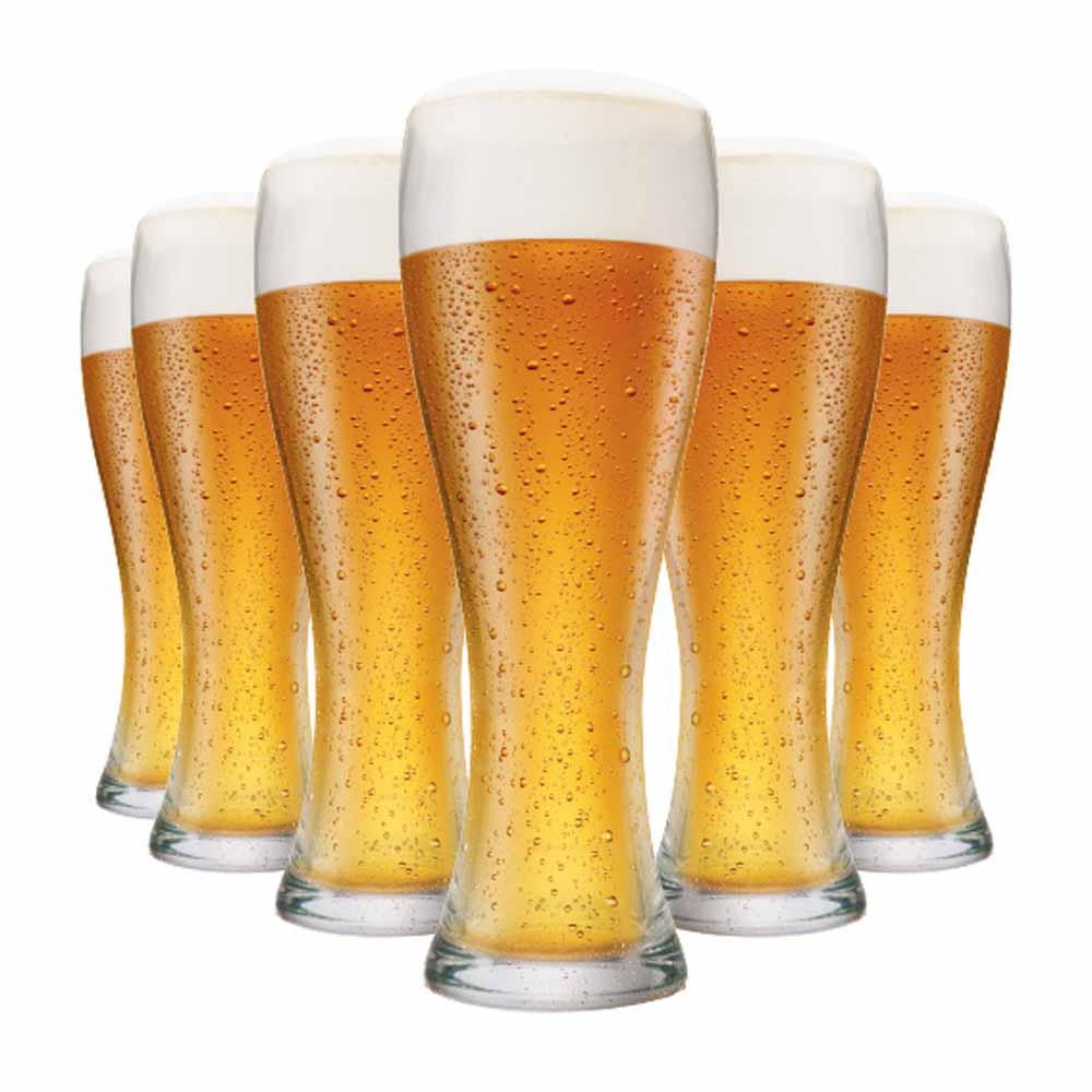 Copo de Cerveja de Vidro Pantheon M 400ml 6 Pcs