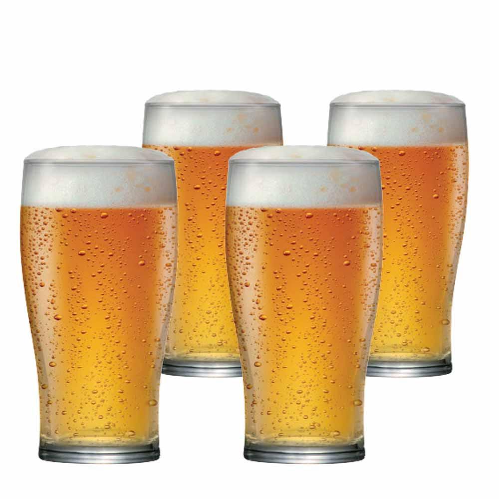 Jogo Copos Cerveja Pint Vidro 590ml 4 Pcs