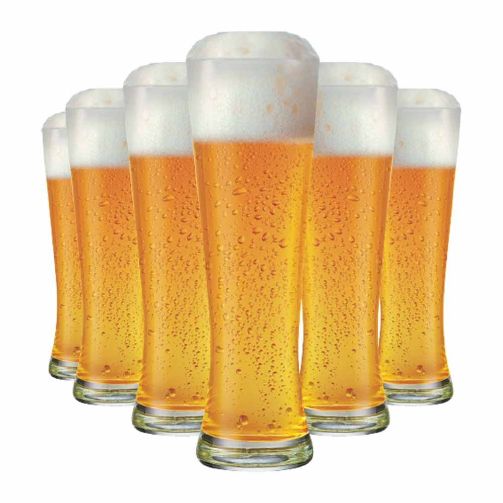 Copo de Cerveja de Vidro Weiss Polite G 685ml 6 Pcs