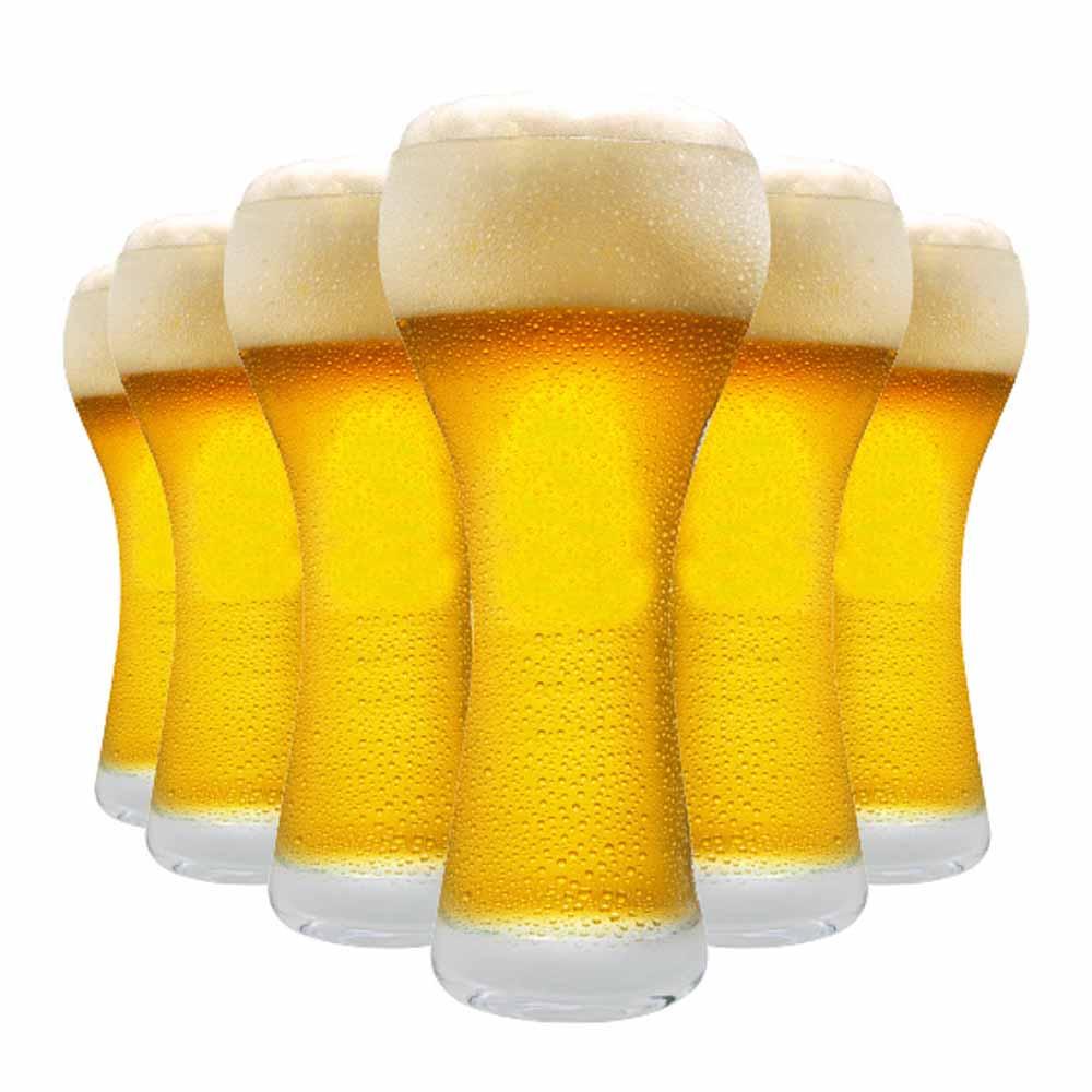 Jogo Copos Cerveja Weiss Premium M Cristal 360ml 6 Pcs