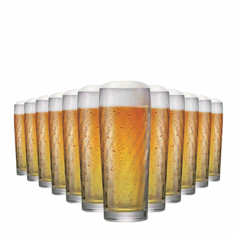Jogo Copos Cerveja Zurich M Vidro 320ml 12 Pcs