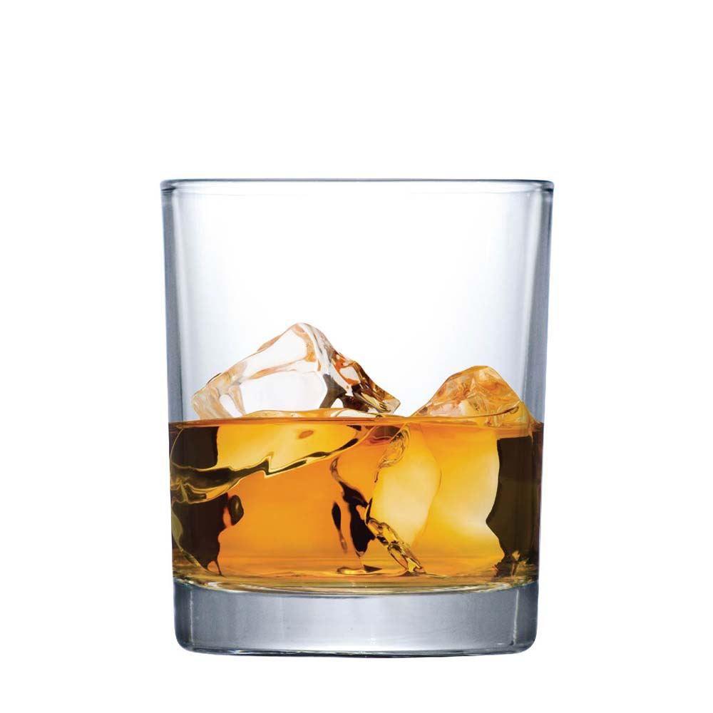 Jogo Copos de Whisky Caveira On The Rocks Vidro 340ml 2 Pcs