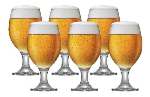 Taças de Cerveja de Vidro 6 Pcs