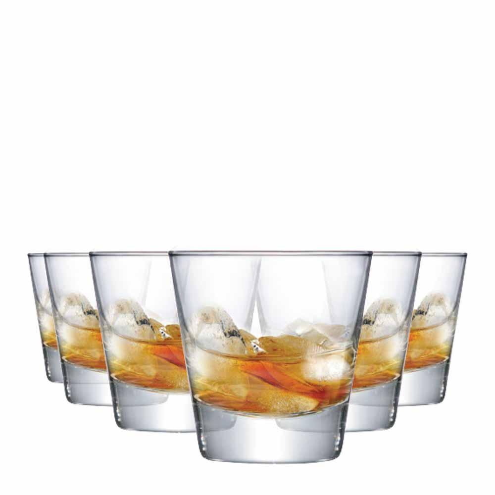 Copo de Whisky Conico Stockholm Vidro 270ml 6 Pcs