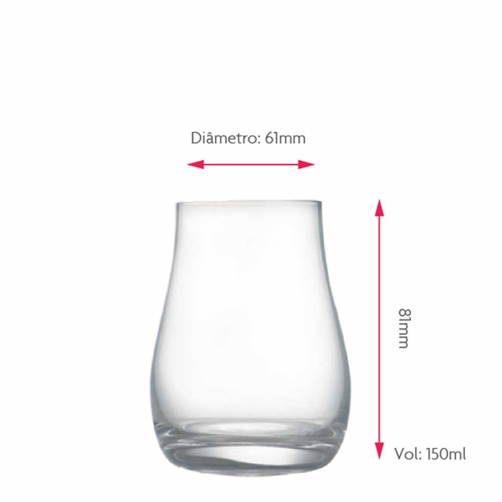 Copo de Whisky Degustacao Cristal 150ml 2 Pcs