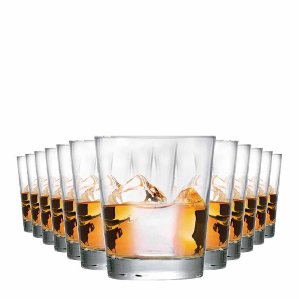 Jogo Copos Whisky Event On The Rocks Vidro 320ml 12 Pcs