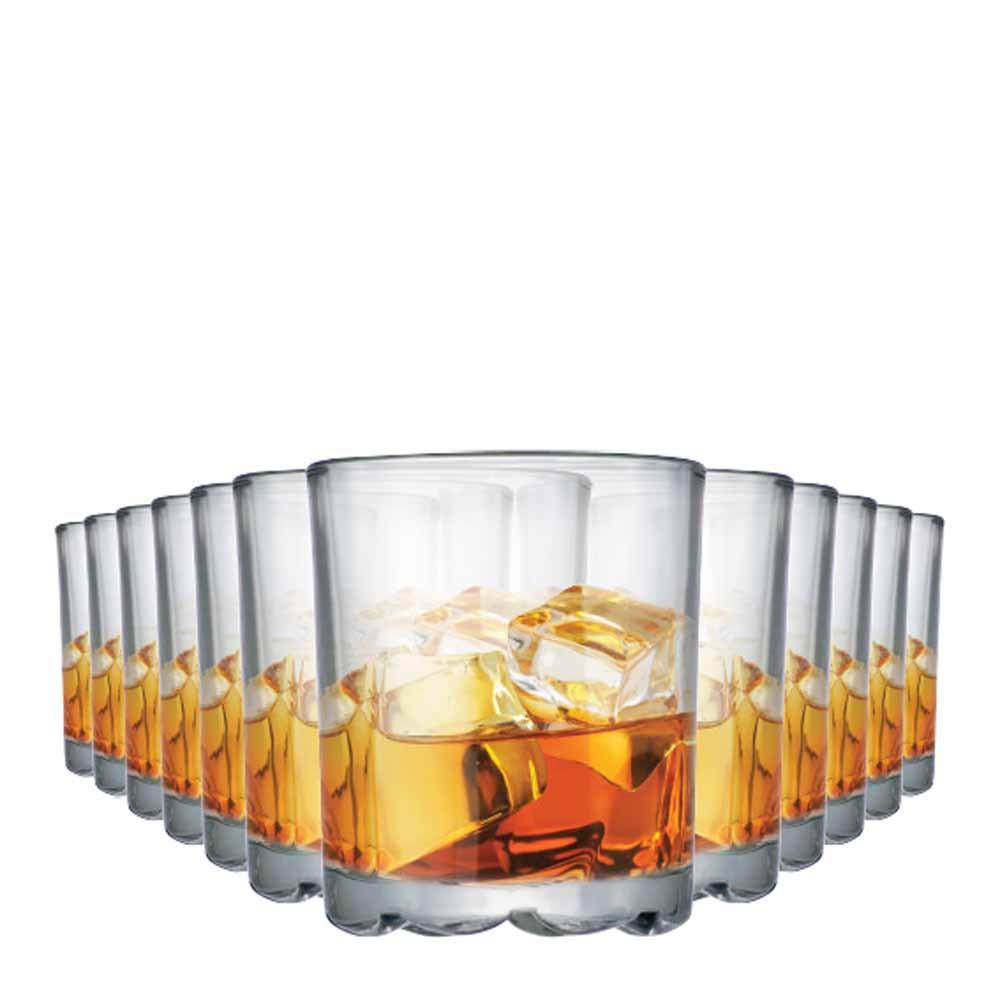 Jogo Copos Whisky Mirage On The Rocks Vidro 280ml 12 Pcs