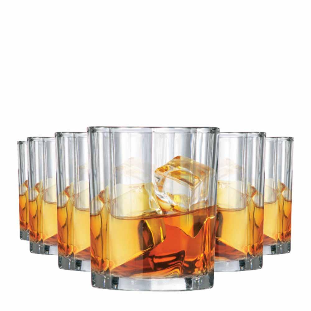 Copo de Whisky Octon On The Rocks Vidro 280ml 6 Pcs