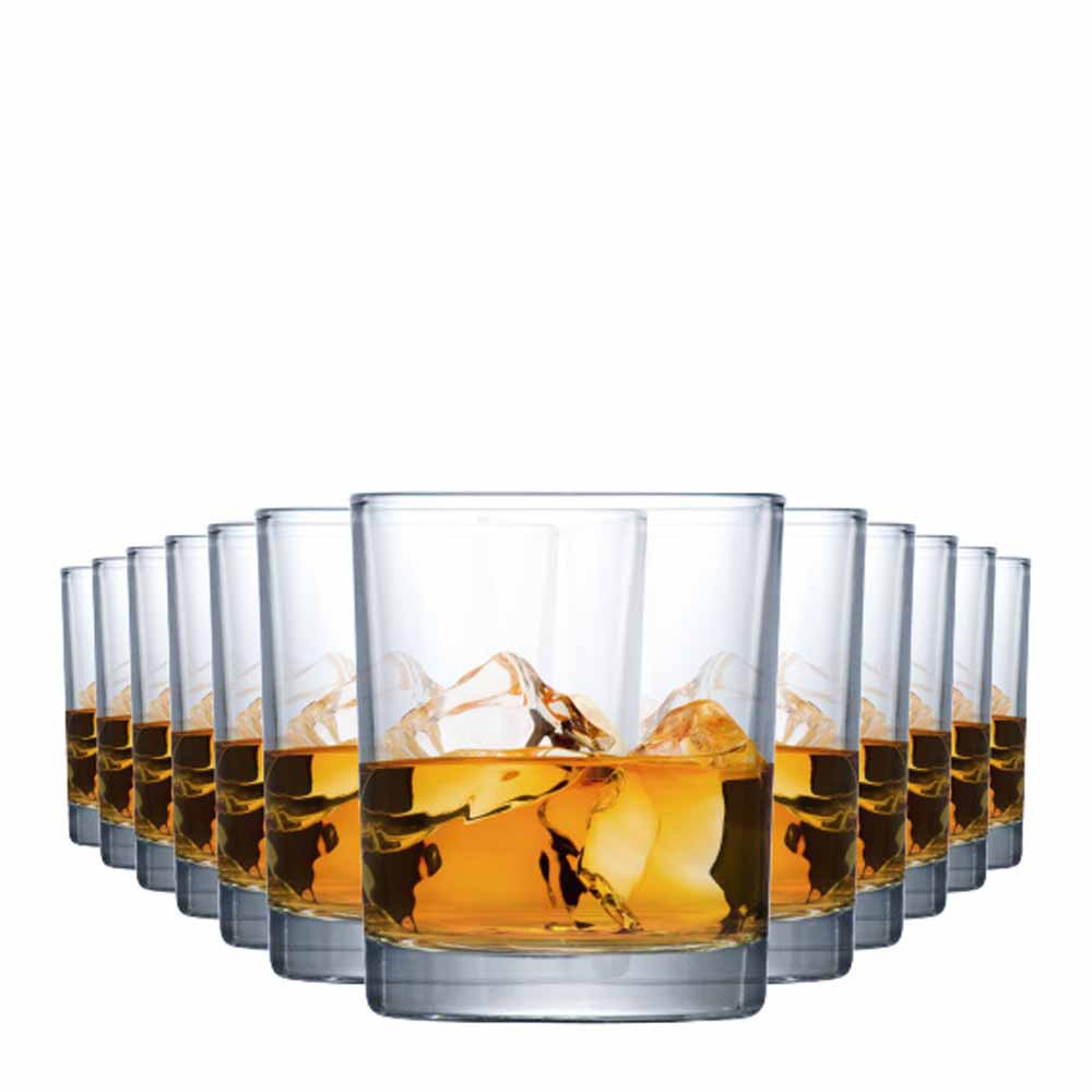 Jogo Copos Whisky Prestige On The Rocks Vidro 340ml 12 Pcs