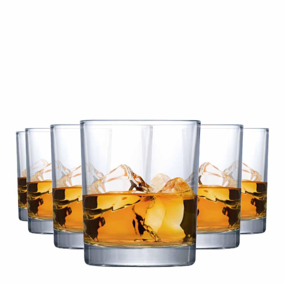 Copo de Whisky Prestige On The Rocks Vidro 340ml 6 Pcs