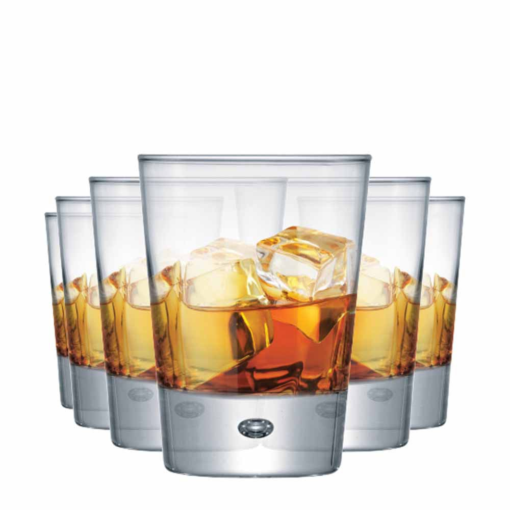 Jogo Copos Whisky Strange On The Rocks Vidro 275ml 6 Pcs