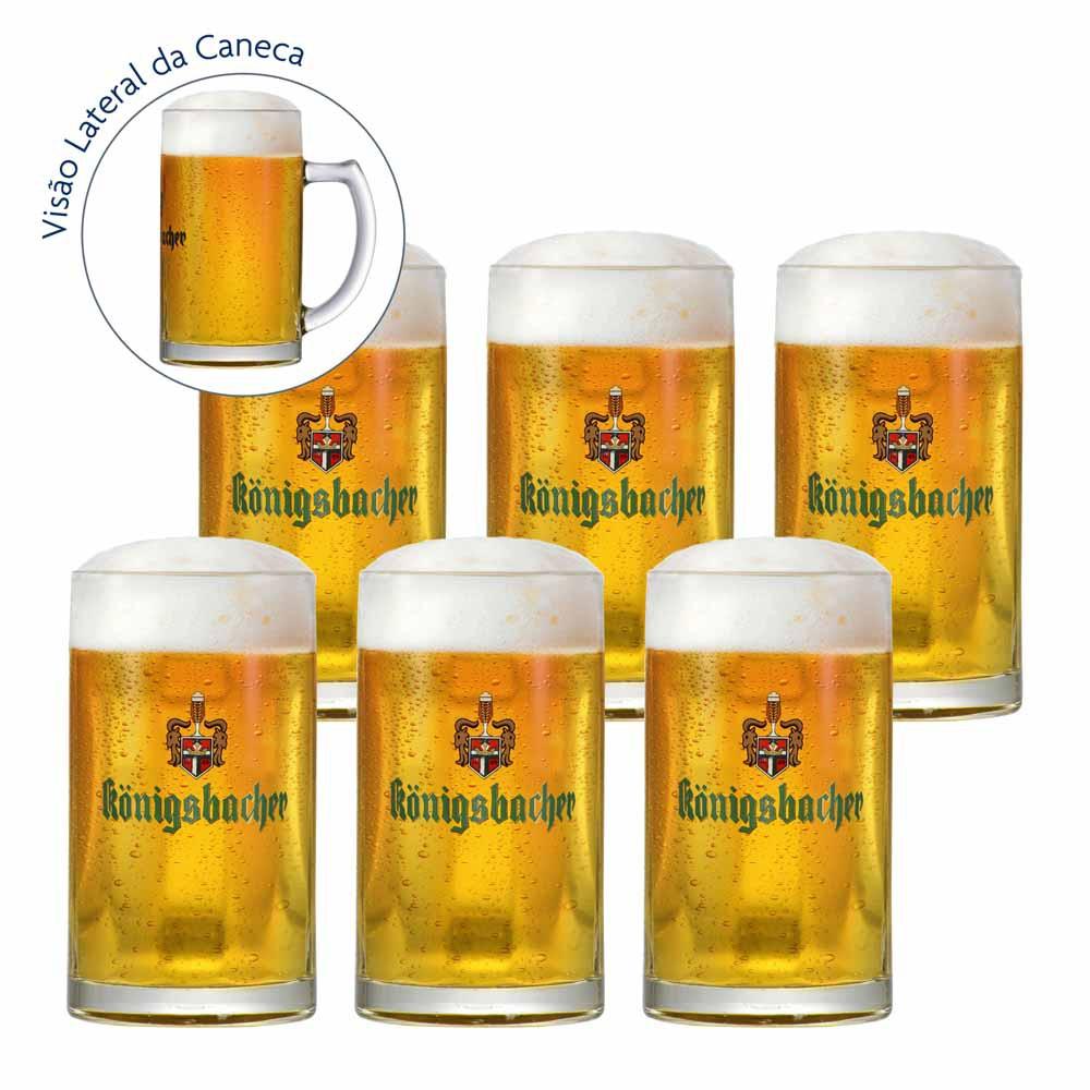 Jogo de Canecas de Chopp Frases Konigsbacher 0.2 Vidro 275ml