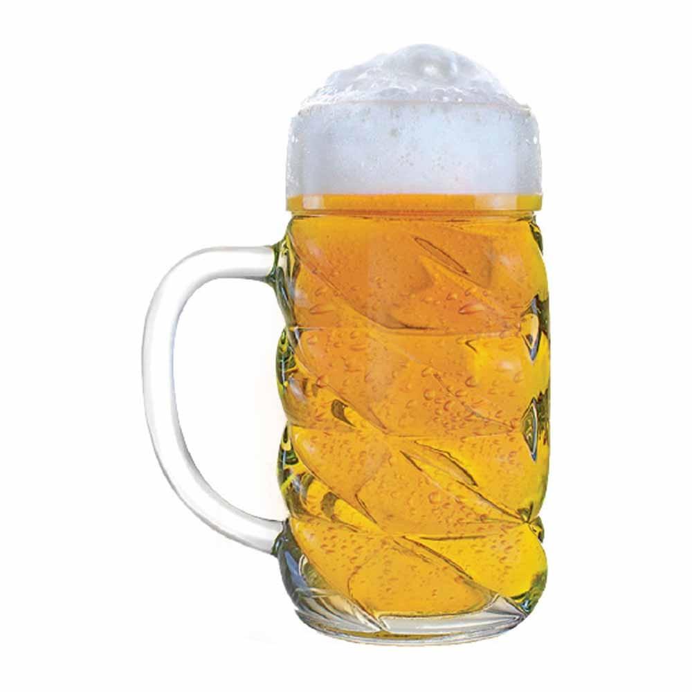 Caneca de Chopp de Vidro Cerveja Diamond M 650ml 12 Pcs