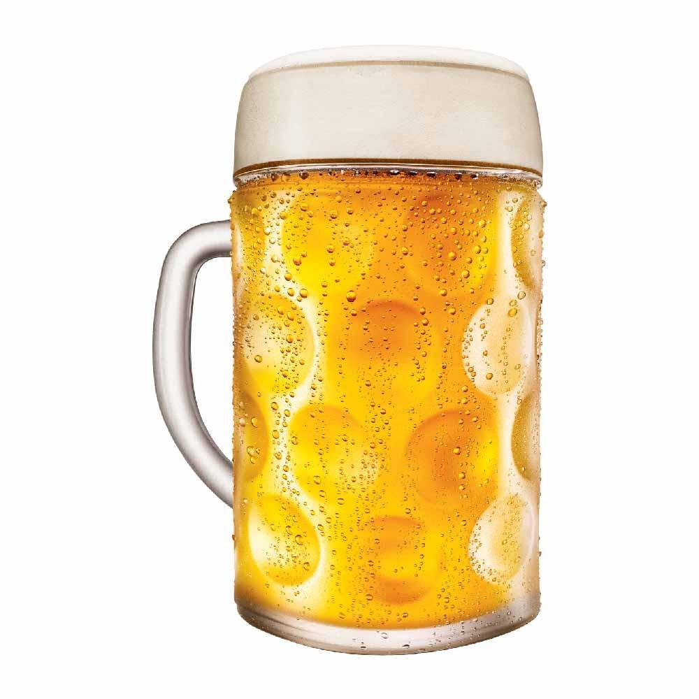 Caneca de Chopp de Vidro Cerveja Mass Krug M Ruvolo 610ml 2 Pcs