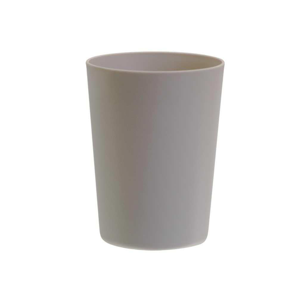 Jogo de Copo Plástico Sem Borda Bege 550ml 4 Pcs