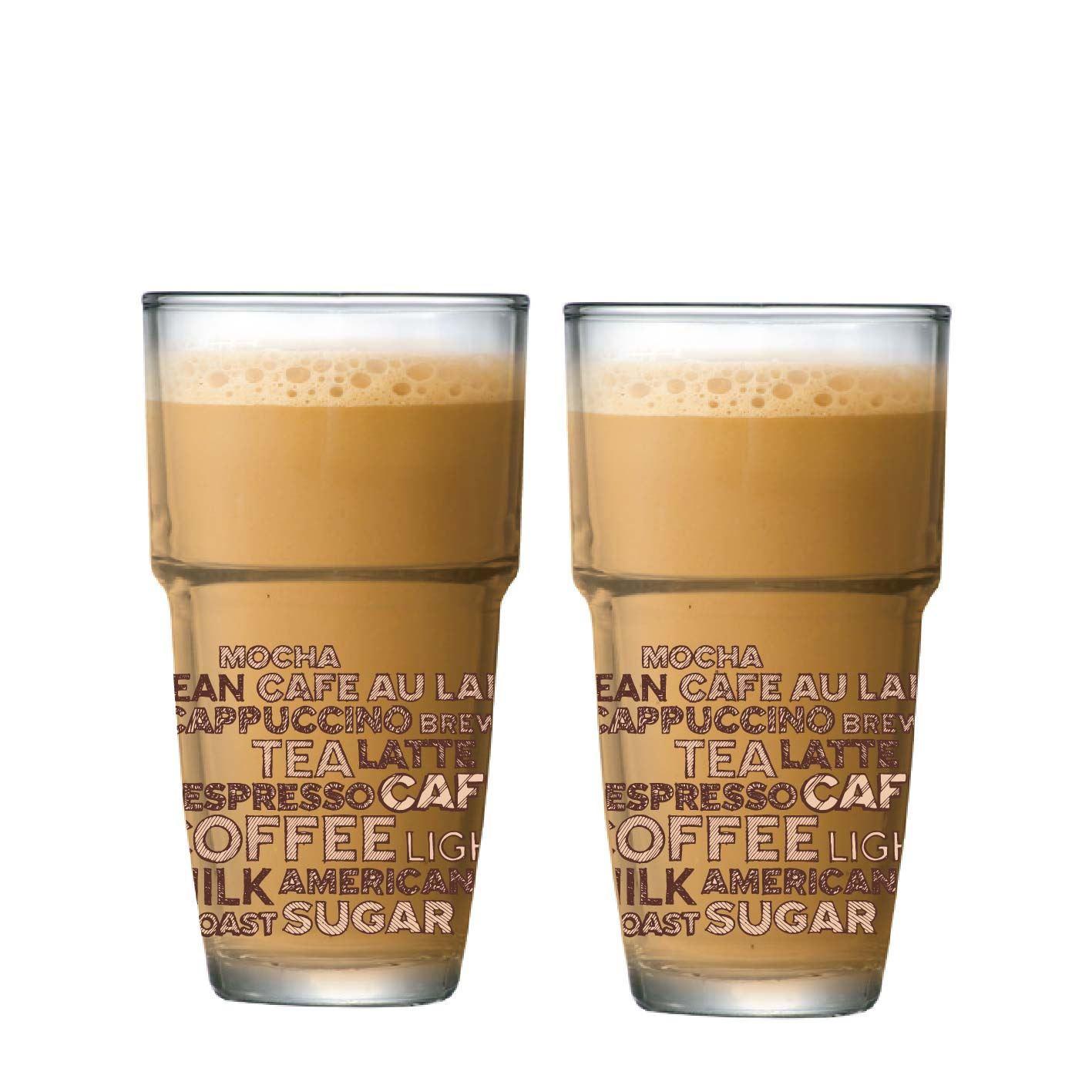 Jogo de Copos de Café Empilhavel Styles Luva 2 Pcs 360ml