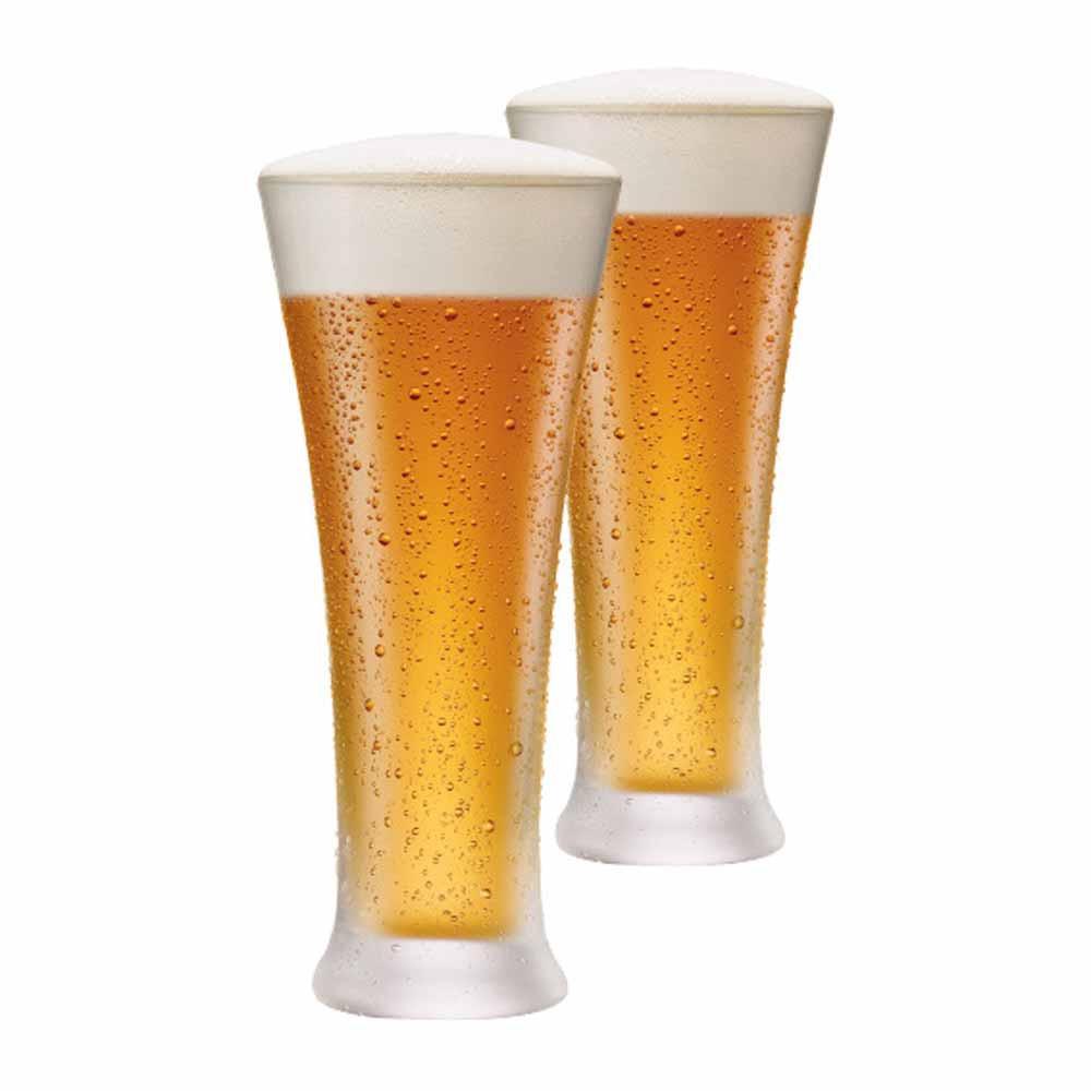Copo de Cerveja de Vidro Pilsner 400ml 2 Pcs