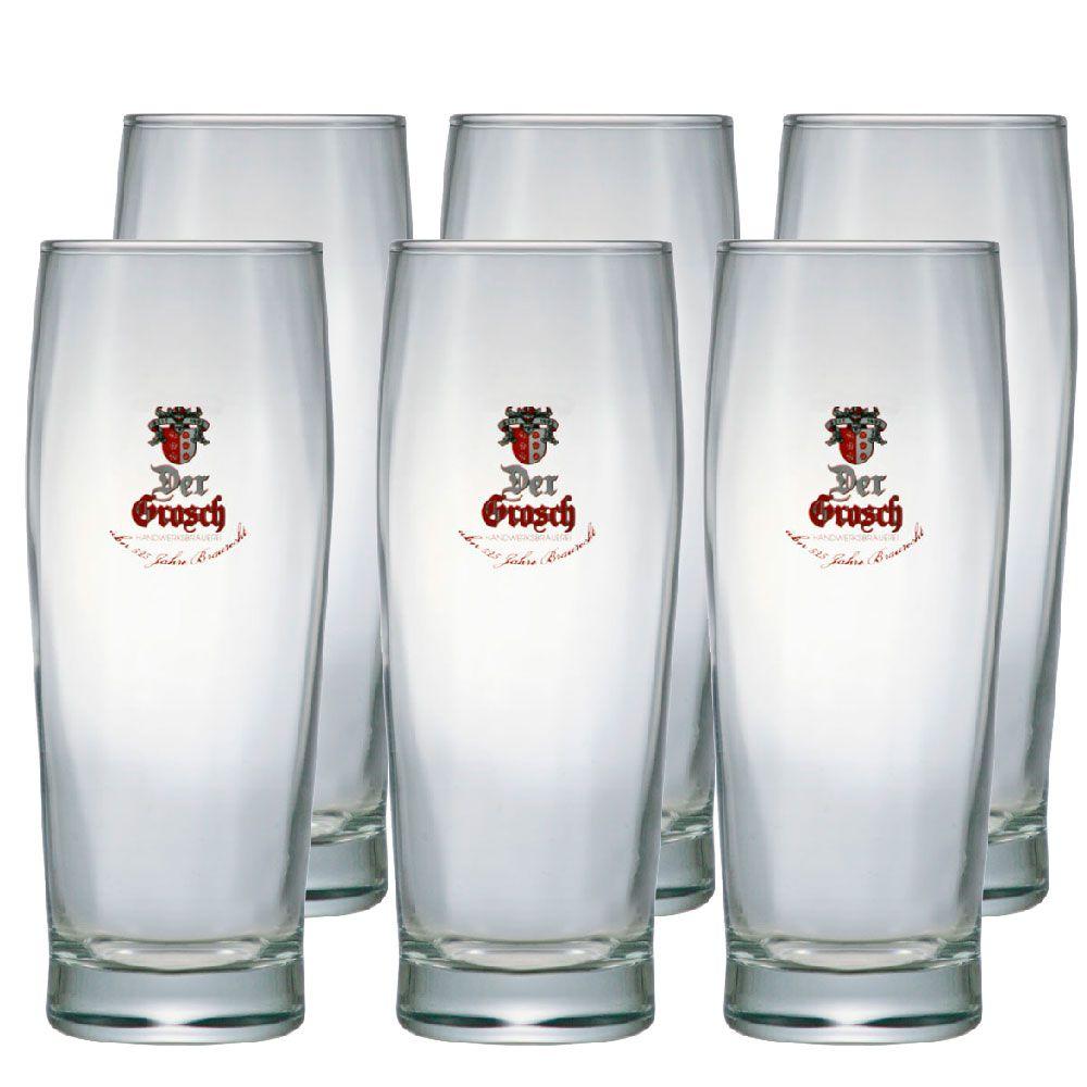 Jogo de Copos de Cerveja Vidro Der Grosh 450ml 6 Pcs