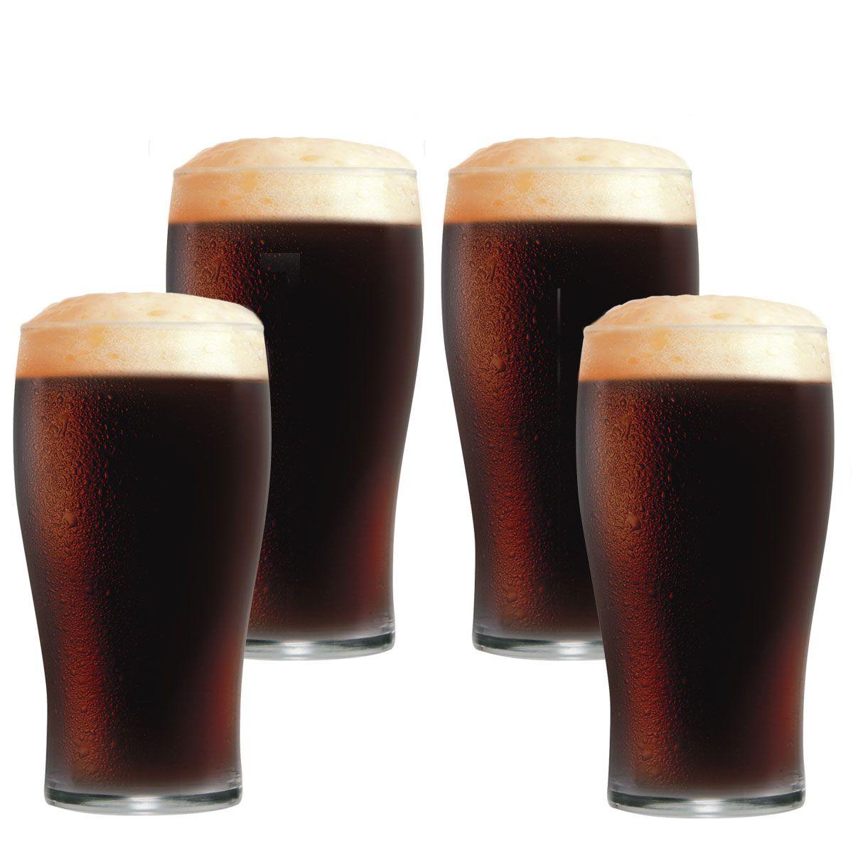 Jogo de Copos de Cerveja Vidro Pint IPA 568ml 4 Pcs