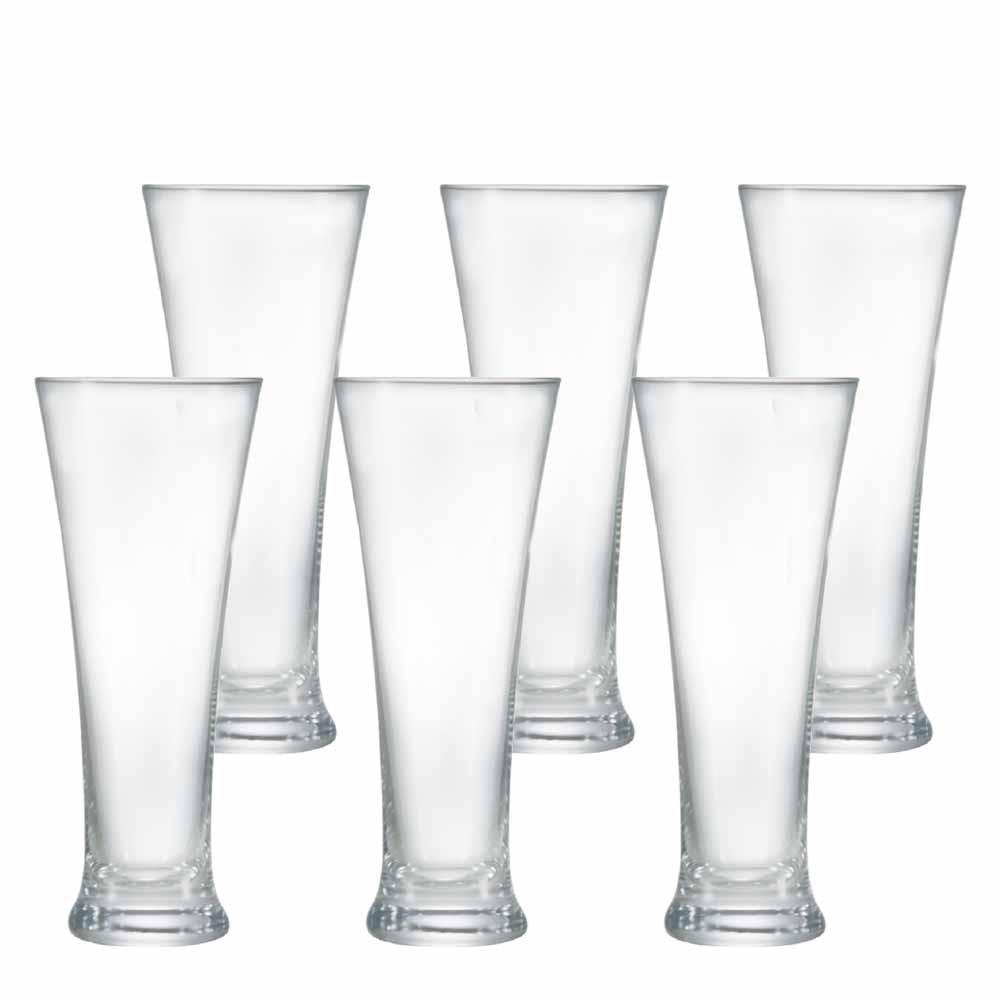 Jogo Copos Cerveja Pilsner Cristal 400ml 6 Pcs