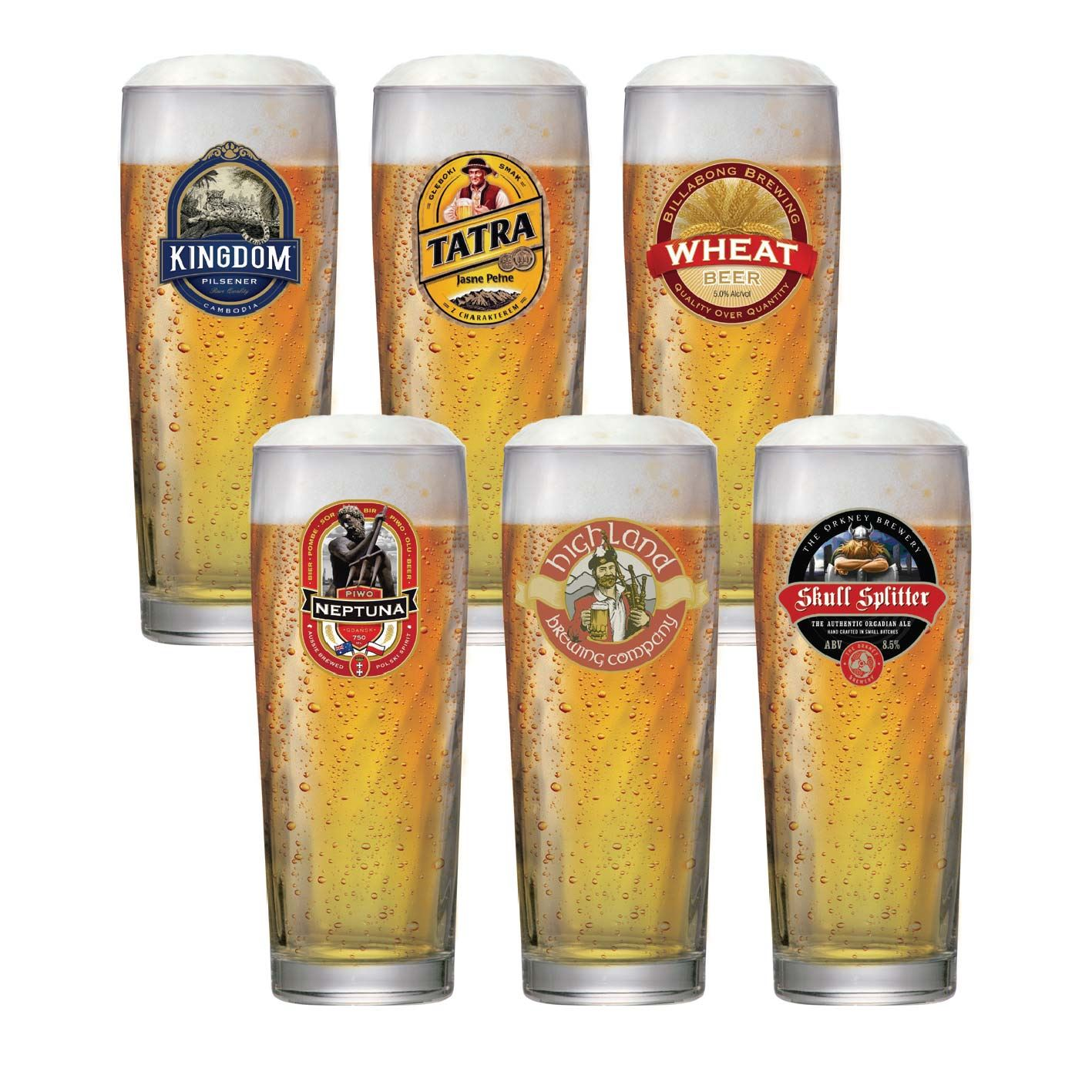 Jogo de Copos para Cerveja Rótulo Zurich M 320ml 6 Pcs