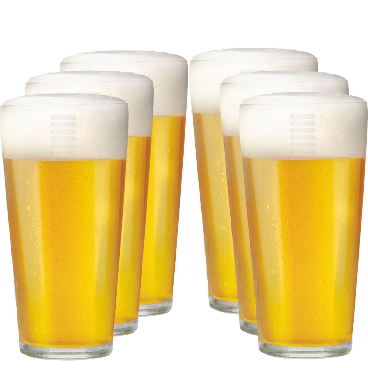 Copo de Cerveja de Vidro Hazel 6 Pcs