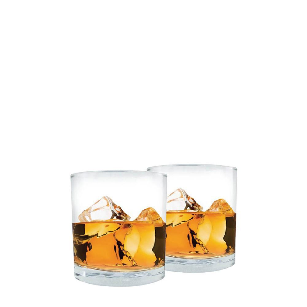Jogo Copos Whisky Prestige On The Rocks Vidro 340ml 2 Pcs
