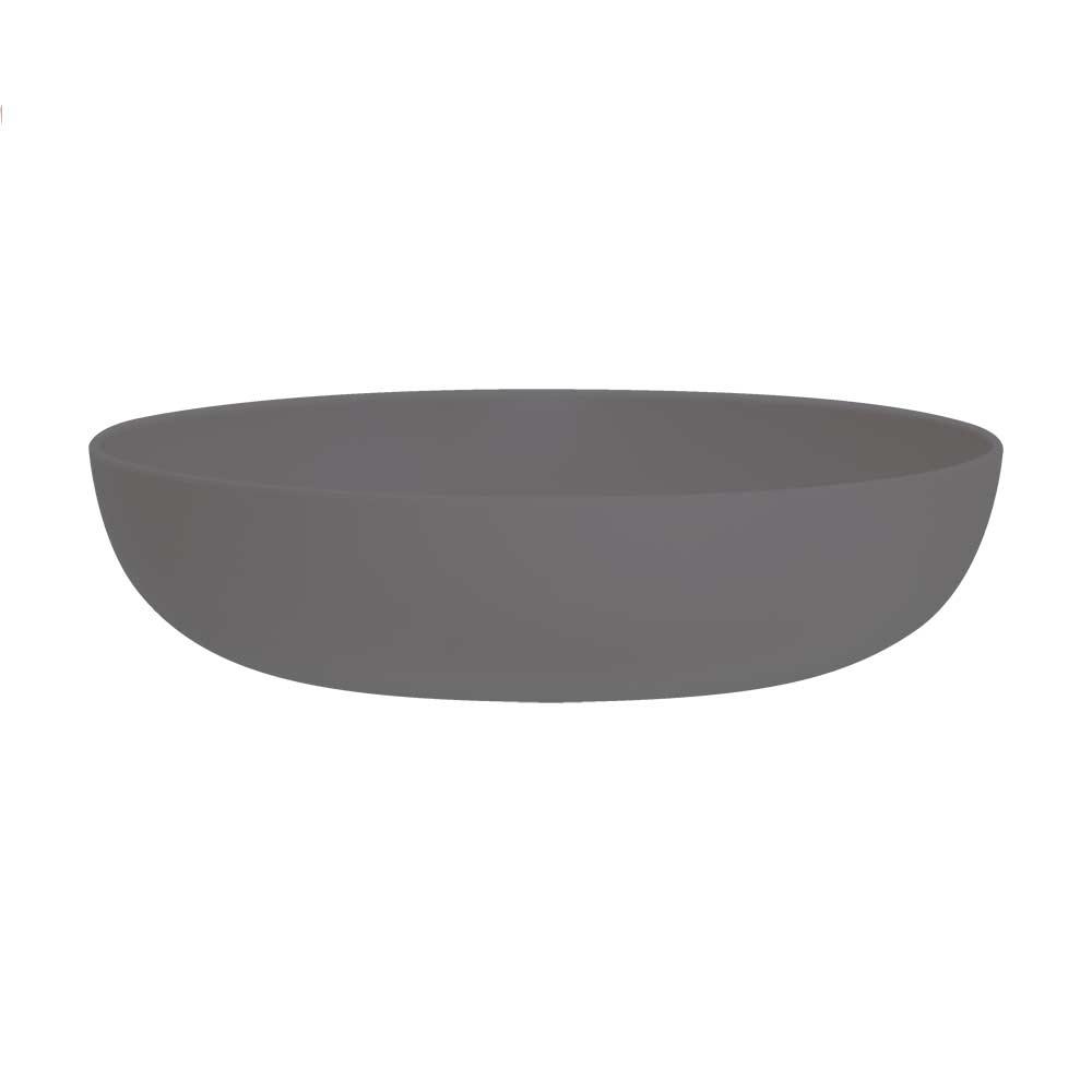 Jogo de Prato de Sopa de Plástico Cinza 1.1 Litro 4 Pcs