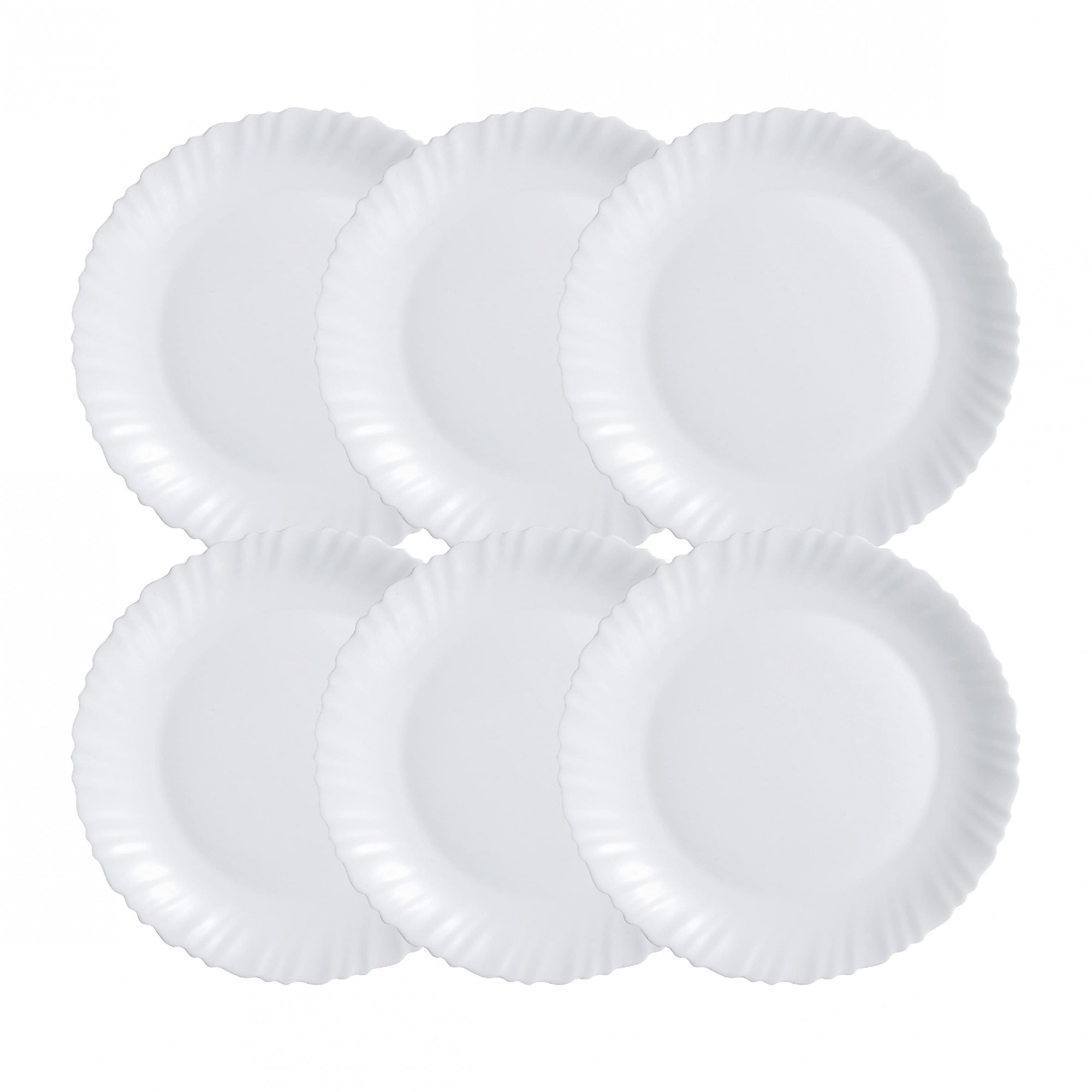 Jogo de Pratos de Vidro Branco Luminarc Sobremesa 6 Pcs