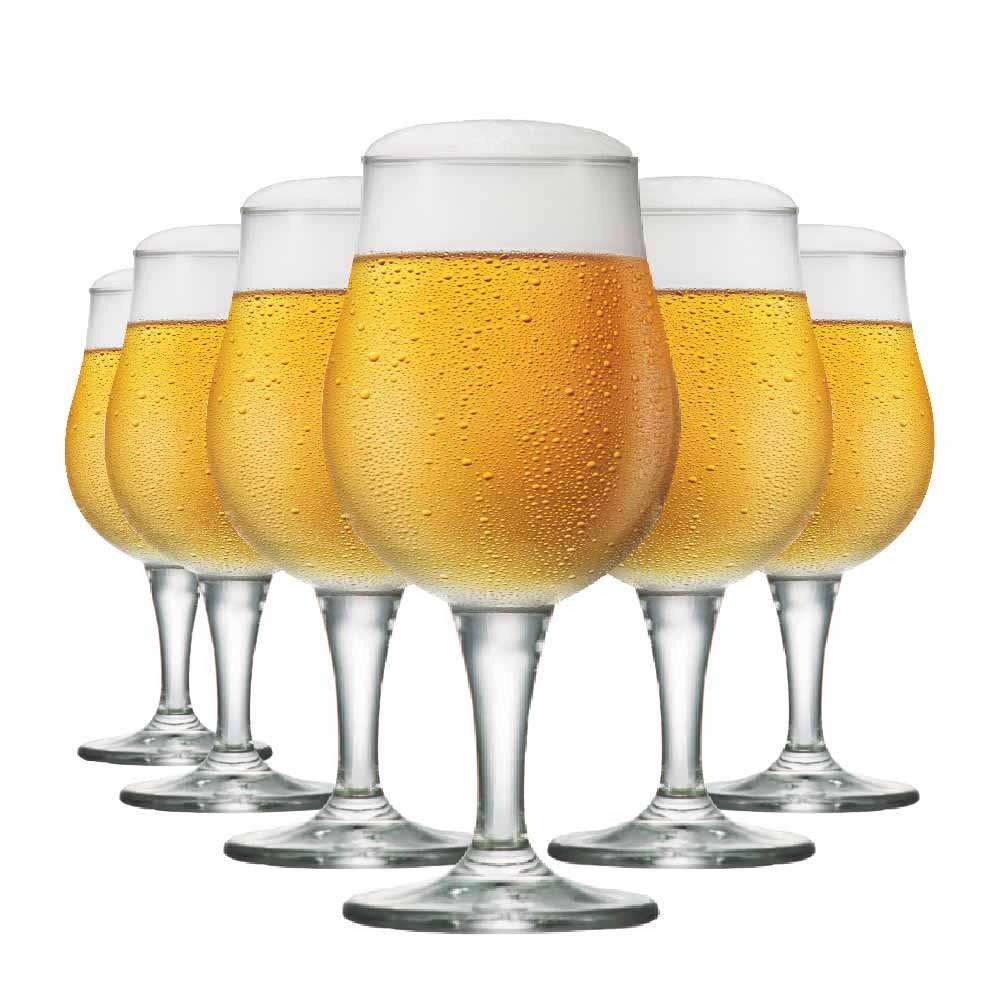 Jogo de Taça de Cerveja Mason M Cristal 390ml 6 Pcs