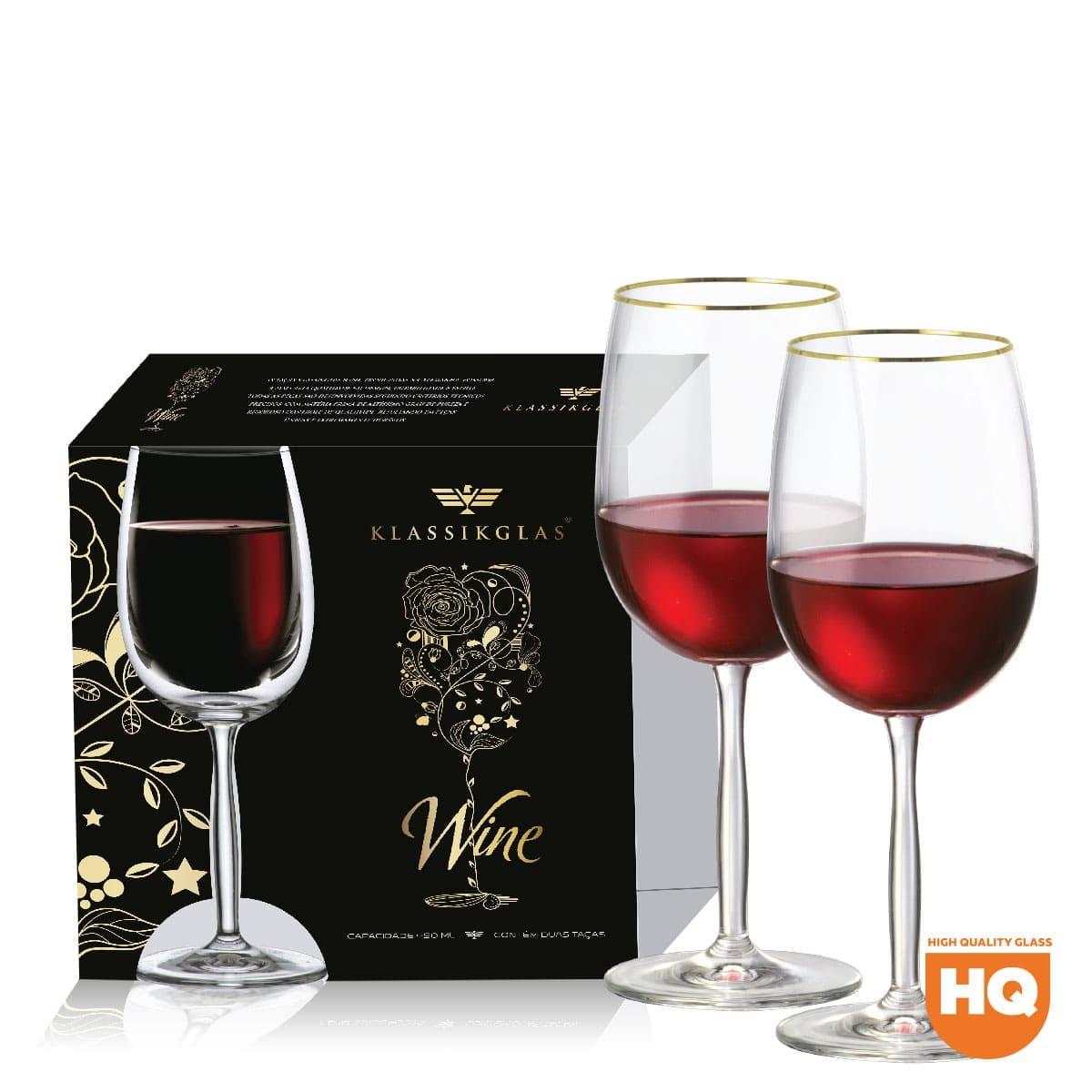 Jogo de Taça de Cristal para Vinho Tinto Ritz de 485ml 2 pçs