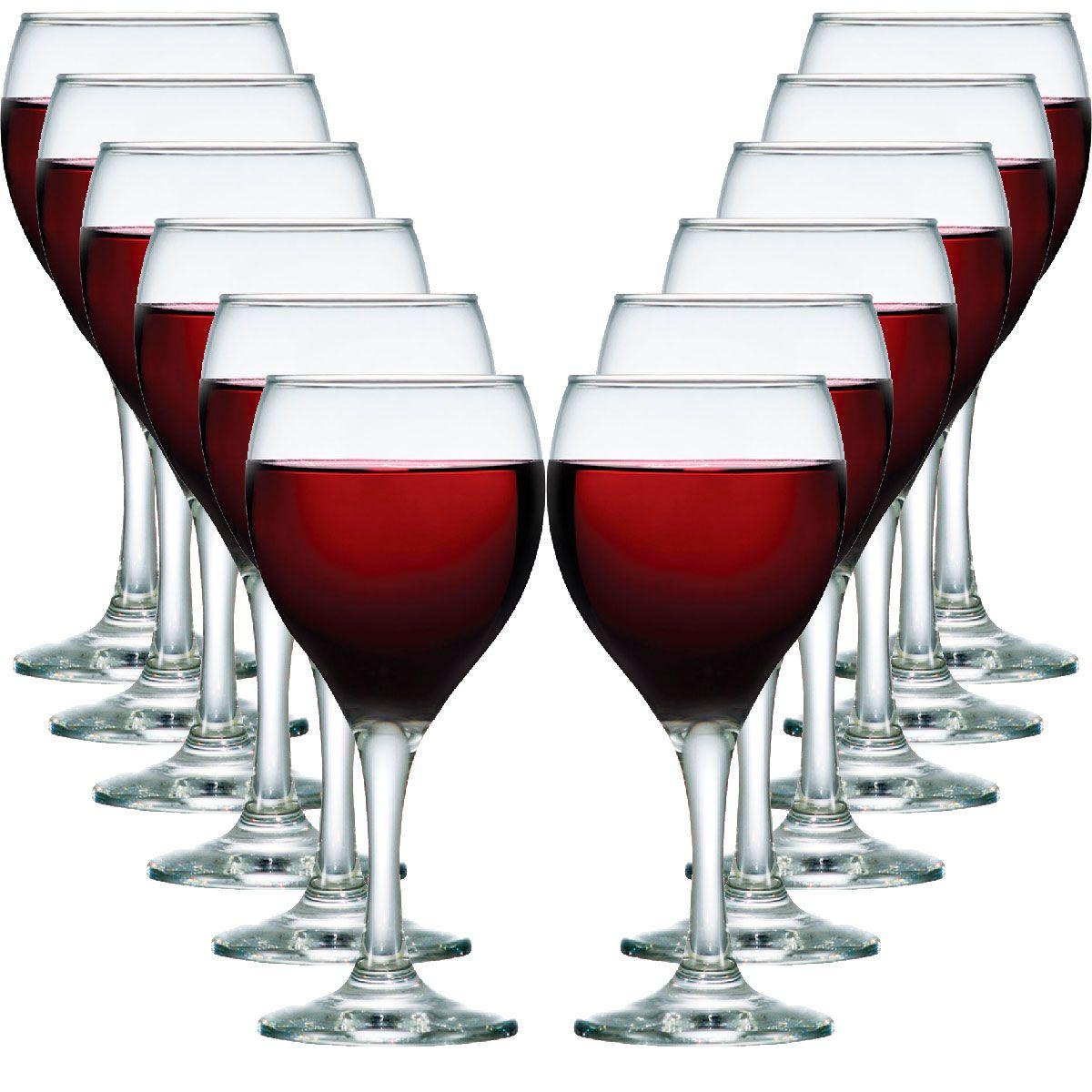 Jogo de Taça de Vinho Vidro Aspen 335ml 12 Pcs
