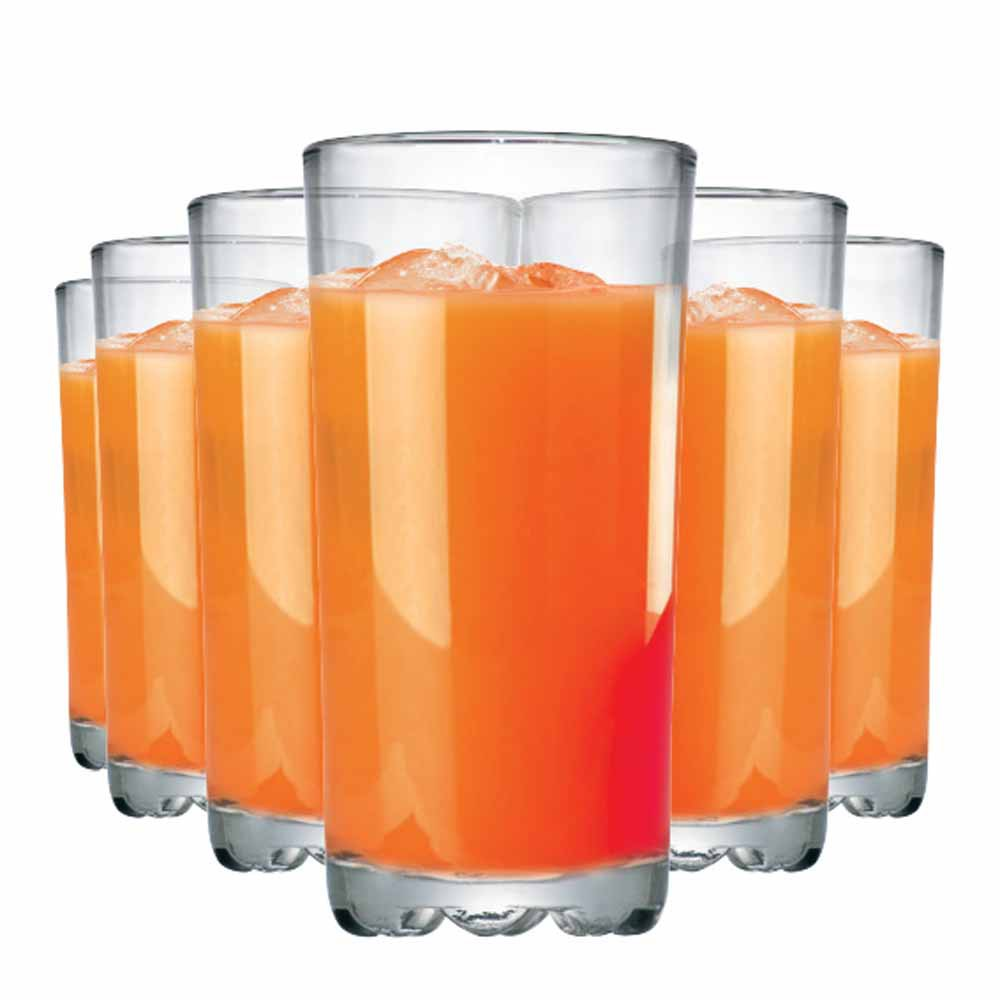 Jogo de Taças Água Suco Mirage Long Drink Vidro 300ml 6 Pcs