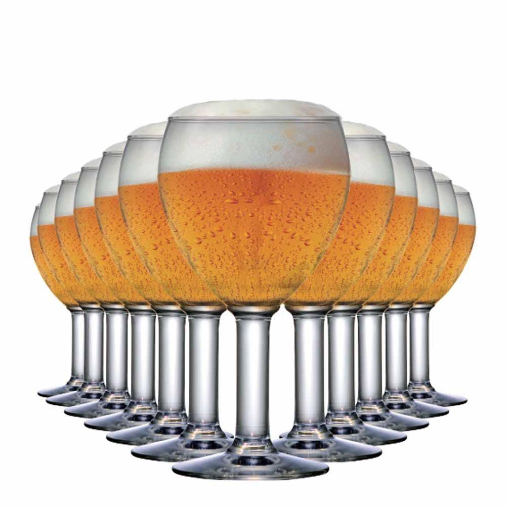 Taça de Cerveja de Vidro Abadia 550ml 12 Pcs