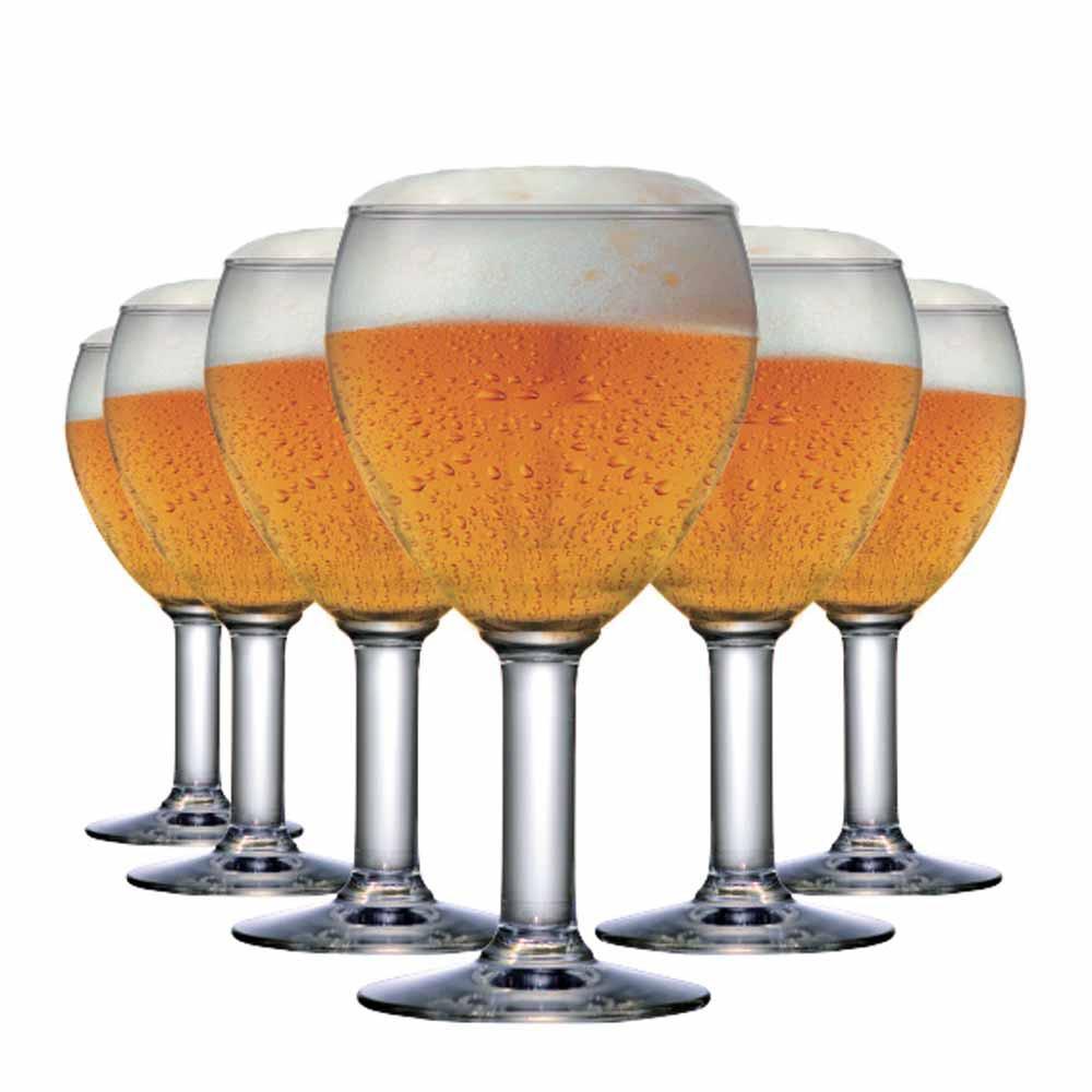 Taça de Cerveja de Vidro Abadia 550ml 6 Pcs