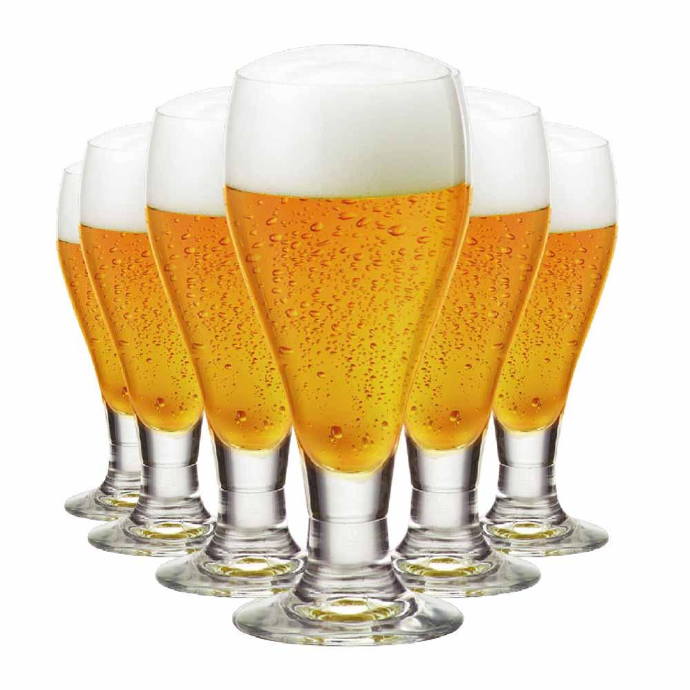 Jogo de Taças Cerveja Amber Cristal 375ml 6 Pcs