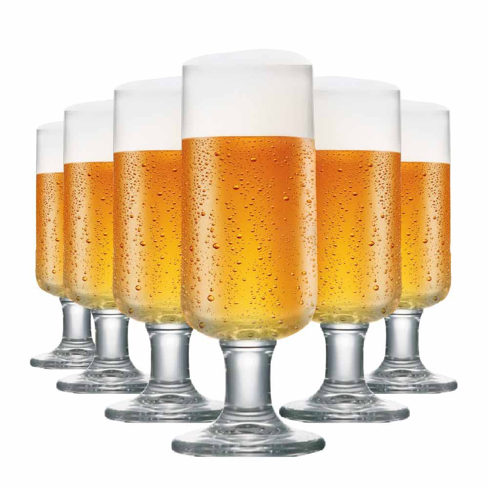 Taça de Cerveja de Cristal Backs 380ml 6 Pcs