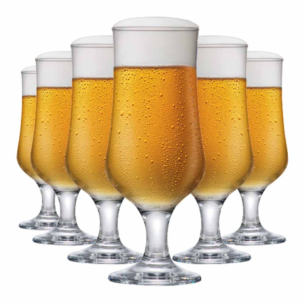 Taça de Cerveja de Vidro Barcelona G 370ml 6 Pcs