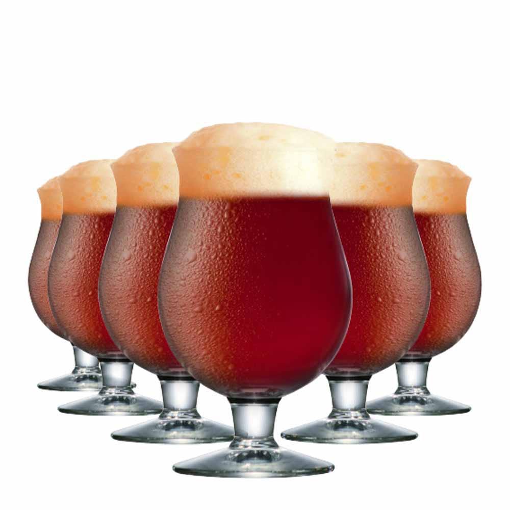 Taça de Cerveja de Vidro Belgian 630ml 6 Pcs