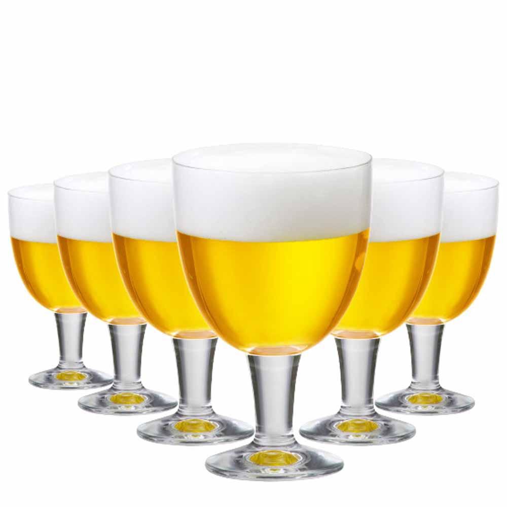 Taça de Cerveja de Cristal Budapest M 470ml 6 Pcs
