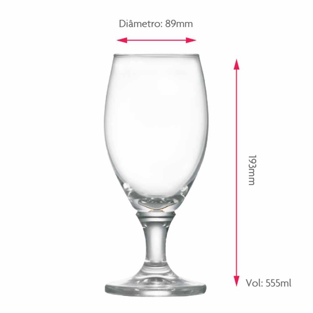 Taça de Cerveja de Cristal Deister G 555ml 6 Pcs