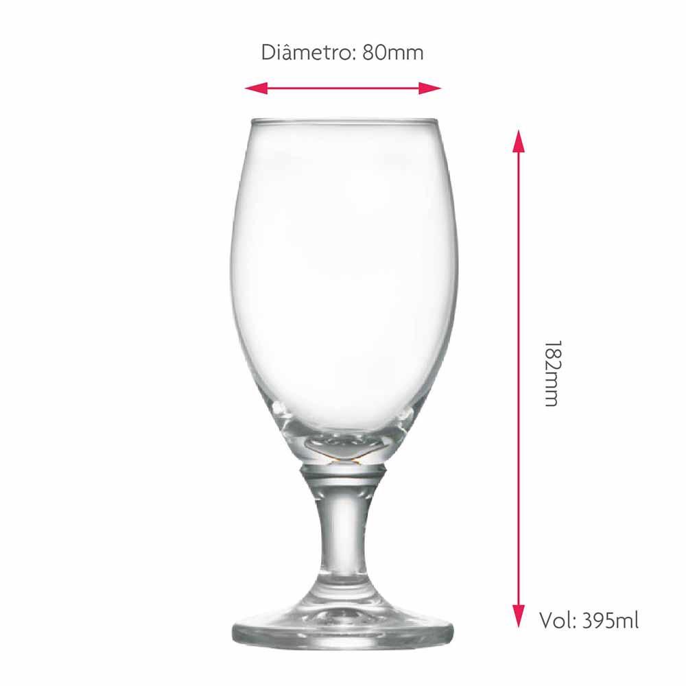Taça de Cerveja de Cristal Deister M 395ml 6 Pcs